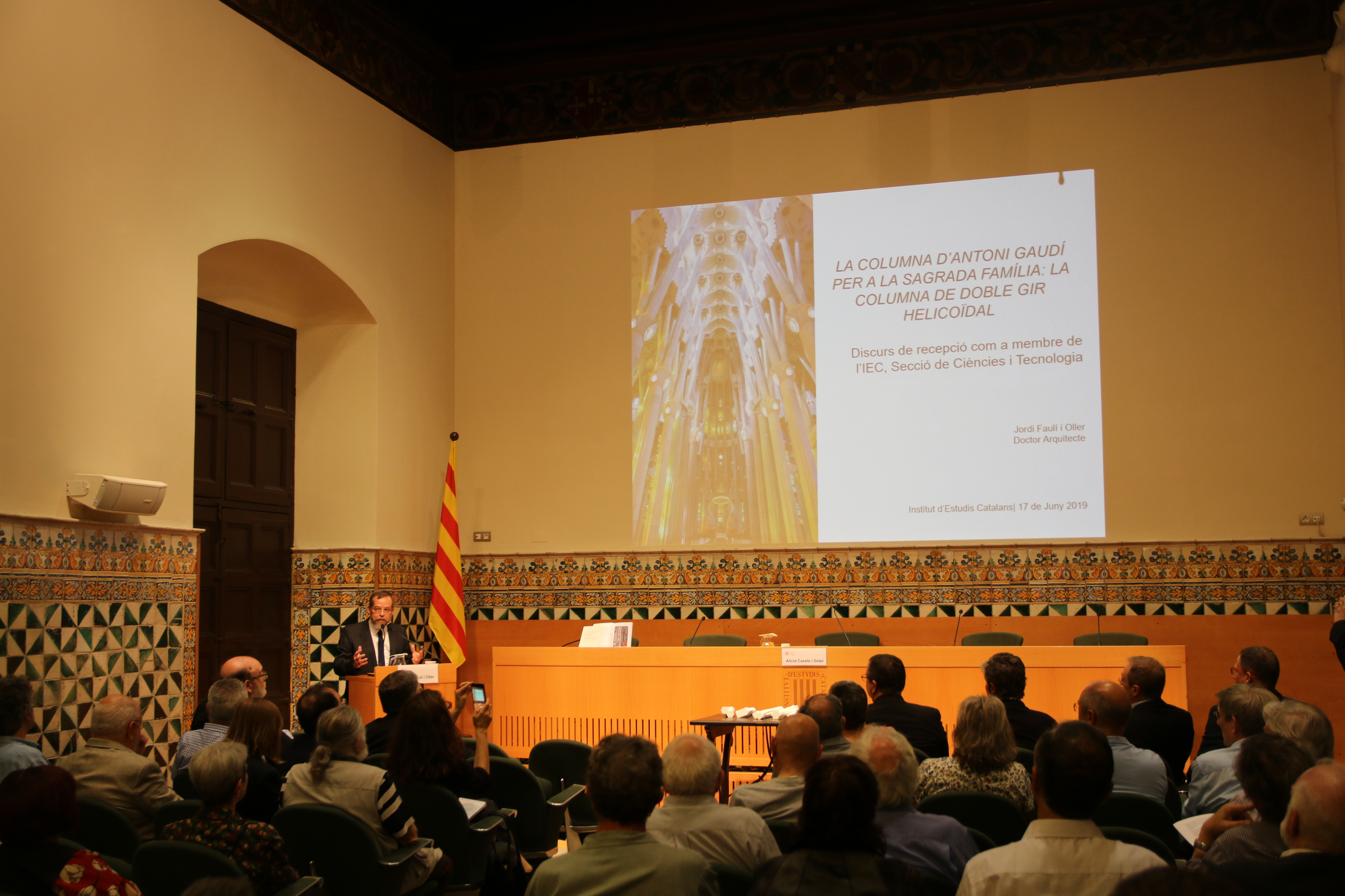 Jordi Faulí gives speech accepting nomination as a permanent member of Institut d'Estudis Catalans