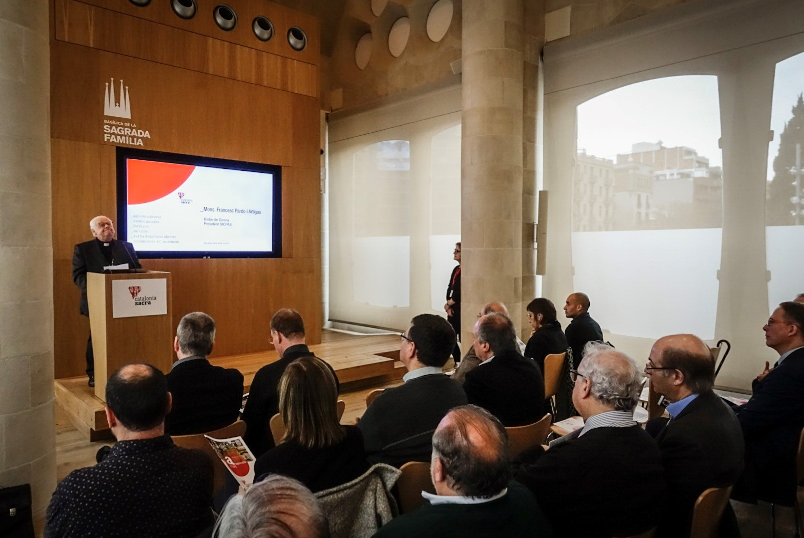 The Sagrada Família hosted the launch of the Catalonia Sacra agenda