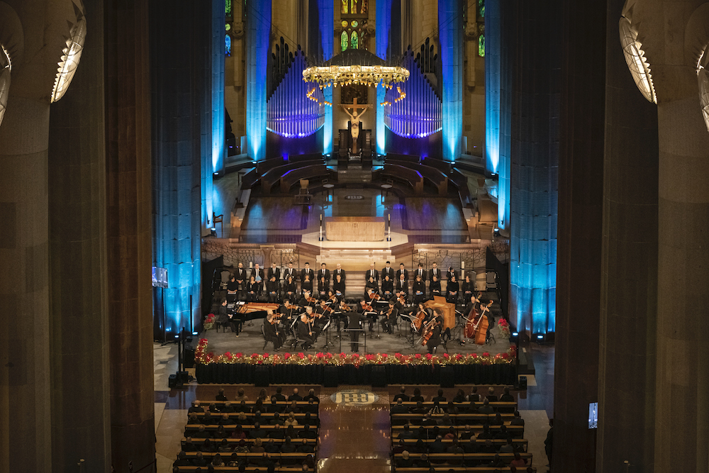 Sagrada Família hosts a concert to celebrate Christmas